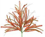 "FB185970:  22.5"" HEATHER/LEAF/GRASS BUSH ORANGE/GREEN"