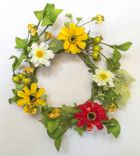 "YL62052:  10"" MIXED FLOWER W/DAISY & BERRIES"