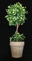 "V981039LTG:  15"" MAIDEN HAIR FERN TOPIARY W/POT LT. GREEN"