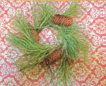 "XP23363:  10"" NORTHERN SOFT PINE RING W/CONES 3.5"" OPENING"
